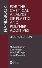 Handbook for the Chemical Analysis of Plastic and Polymer Additives by Joseph...
