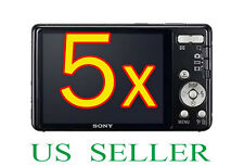 5x Sony CyberShot DSC-W650 W690 Camera Clear LCD Screen Protector Guard Fil