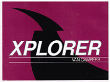 Vtg 1989 XPLORER Van Campers MOTOR HOMES BROCHURE