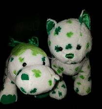 Webkinz PLUSH ONLY LOT:   LUCKY DINO  + CLOVER CAT -  JUST THE PLUSH