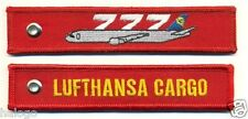 LUFTHANSA 777F REMOVE BEFORE FLIGHT RED KEYCHAIN - KEY077