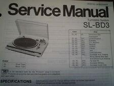 Technics SL-BD3 giradiscos piezas diagrama de cableado manual de servicio