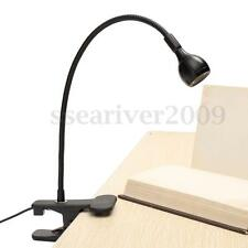 Flexible USB Rechargeable LED Study Reading Light Clip-on Bed Table Desk Lamp