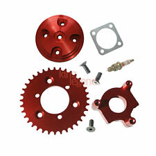 Red CNC 36T Sprocket Assembly Cylinder Head Cover Kit For 80cc Motorized Bike