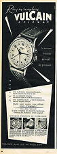 PUBLICITE ADVERTISING 045  1954  VULCAIN  CRICKET  collection montre