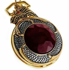 golden dragon Quartz pocket watch with  chain