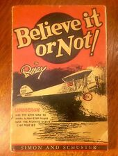 First Edition Ripley's Believe It Or Not, 1929, Scarce!