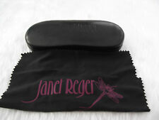 Used - Janet Reger black glasses case & cleaning cloth - proceeds to charity