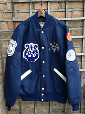DELONG WESTFIELD WOLVERINES BLUE VARSITY COLLEGE JACKET WOMENS UK 18/20/22 XL
