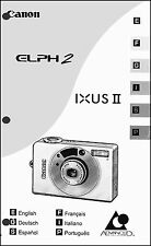 Canon ELPH 2 IXUS II Digital Camera User Guide Instruction  Manual