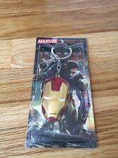 New Marvel The Avengers Iron Man Mask Metal Golden color Keyring Keychain USA