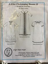 GINGER SNAPS DESIGNS A-LINE CHRISTENING GOWN II FOR BABY BOYS