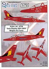 Syhart Decals 1/72 ALPHA JET SOLO DISPLAY 2001-2003 Belgian Air Force