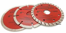 "3pc 4"" Diamond Blades DRY/WET/TURBO Saw Blade Wheels Tile Concrete 13,400RPM"