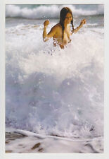 Postcard Nude Sexy Girl Topless Breast Woman Swimming High Surf Post Card 5319