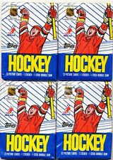 4 PACK LOT 1989-90 TOPPS HOCKEY