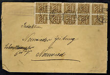 1923 Koln Germany Inflation cover to Neuwieder Zeitung 6 Billion ! RM