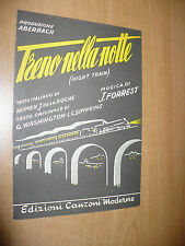 SPARTITO MUSICALE TRENO NELLA NOTTE NIGHT TRAIN F.FORREST WASHINGTON SLOW BLUES
