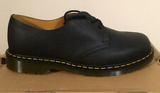 DR. MARTENS 1461 BLACK NOIR SCOTCHGRAIN  LEATHER  SHOES SIZE UK 12