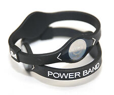 (2pcs) Medium BLACK Power Band  Ion Hologram Bracelet - Ships From USA
