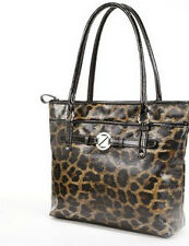 NEW! NINE & CO NINE WEST CROC STAR BLACK LEOPARD SHOPPER TOTE BAG PURSE $49 SALE