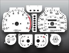 1992-1997 Subaru SVX Dash Dash Instrument Cluster White Face Gauges