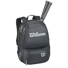 Wilson Badminton Tennis Backpack Bag Sports Racket Gym Shoes Black WRZ-845695