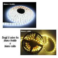 STRISCIA 60 LED 1 METRO  12V Bianco Freddo o Caldo LED TUNING CAR led strip