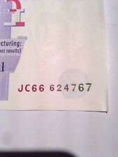 JC 666 24 7 67 Serial Number Collectable Circulated. £20 Pound Note