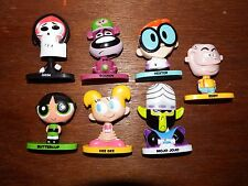 Cartoon Network 90s figure toy playset Eddy Power puff Dexters lab bobble heads