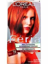 L'Oreal Feria Shimmering Highlights & Permanent Hair Dye Deep Copper Color #74