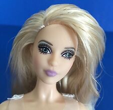 2016 Barbie Model Muse Pivotal Body Nude Blonde Andy Warhol Doll w COA & Stand