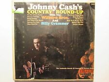 "LP Record - Johnny Cash - ""Johnny Cash's Country Round-Up"""