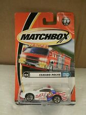 MATTEL MATCHBOX- 96385 CAMARO POLICE #89- NEW ON CARD- L30