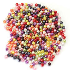 500X Multicolor Round Pearls precious Glass Beads 4mm Spacer Jewellery Craft NEW