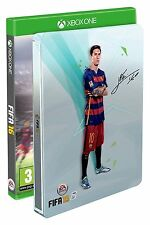 Jeux Console Xbox one / Coffret Collector Fifa 16 + Steelbook Messi Foot / NEUF