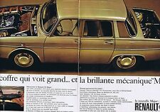 PUBLICITE ADVERTISING 025 1965 RENAULT La R10 Major   (2 pages)