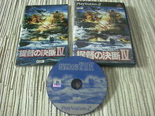 TEITOKU NO KETSUDAN IV 4 WORLD WAR 2 GAME PLAYSTATION 2 PS 2 JAPONÉS USADO
