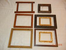 Lot 8 Vintage Wood Gilt Picture Frames Arts & Crafts Mission Style Sizes vary