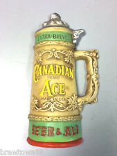 Canadian Ace beer sign vintage chalkware stein bar display chalk statue old GE2
