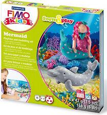 New FIMO Kids Form & Play Set Mermaid Modelling Jewellery Craft Art Fun
