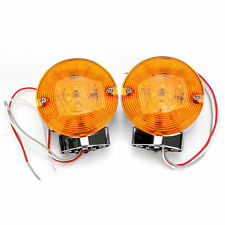 2xFront LED Flat Lens Turn Signal Light Blinker For Harley Electra Glide Touring