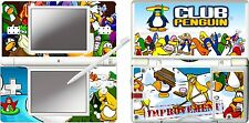 nintendo DS Lite - CLUB PENGUIN 4 Piece Decal / Sticker Skin vinyl