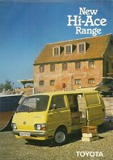 Toyota Hi-Ace 1980-81 UK Market Foldout Sales Brochure Van LWB Pick-Up