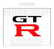 GTR - RED - BLACK  TEXT  Stickers