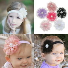 Fashion Baby Infant Girl Toddler Lace Flower Headband Headwear Hair Band 6PCS
