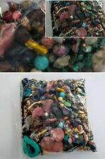 over 3 pounds mixed lot of glass, crystal, ceramic, gemstone beads grab bag