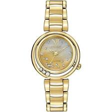 BRAND NEW CITIZEN ECO-DRIVE SUNRISE MOP FLOATING DIAMONDS GOLD SS EM0322-53Y NIB