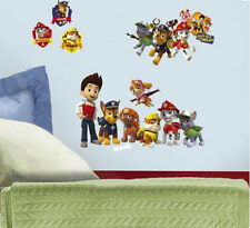 PAW PATROL wall stickers 37 decals Ryder Chase Marshall Rubble Rocky Zuma puppy