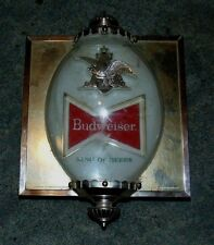 Vintage Budweiser Bubble Dome Lighted Sign